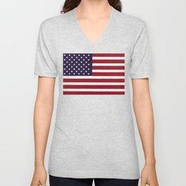 USA flag - Painterly impressionism Unisex V-Neck