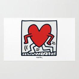 KEITH HARING - HEART WALKING Rug