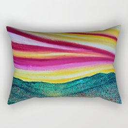SPRING IS COMING - Abstract Sky - Landscape Oil Painting Rectangular Pillow