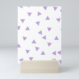 90's Purple Watercolor Triangles Mini Art Print