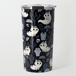 Ghost Cats in the Cemetery Travel Mug
