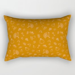 Happy thanksgiving day pattern Rectangular Pillow