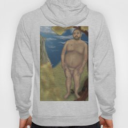 Nude Bear Leaning on a Tree Hoody