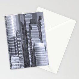 """""""Urban Angles #1 in Blue"""" by Murray Bolesta Stationery Cards"""