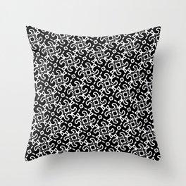 Black and White Decorative Tessellation Throw Pillow