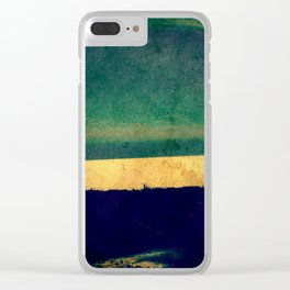 Green sunset Clear iPhone Case