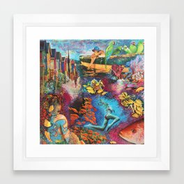 Below and above Framed Art Print