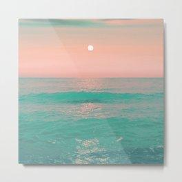 Light Pink Turquoise Waters Metal Print