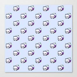 Kawaii Galactic Mighty Panda pattern Canvas Print