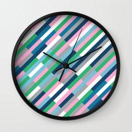 Bricks Rotate 45 Green Wall Clock