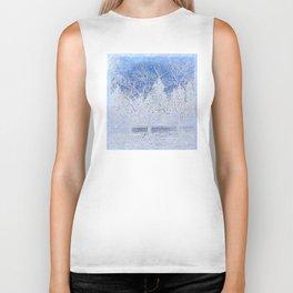 Tree   Trees   Blue Winter Landscape   Nadia Bonello Biker Tank