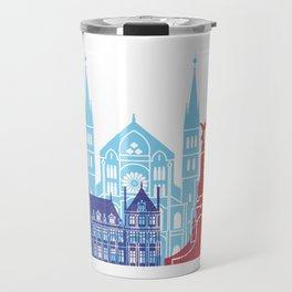 Reims skyline pop Travel Mug
