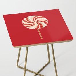 Red Lollipop Side Table