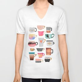 Coffee Cup Collection Unisex V-Neck