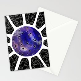 Inverted One of Microbes Stationery Cards