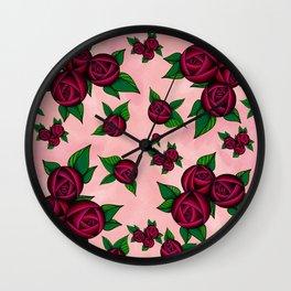 Rosy Wall Clock