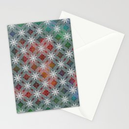 Abstract Star Flower Pattern Stationery Cards
