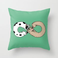 Infinity of Frenchie Throw Pillow