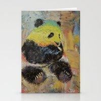 rasta Stationery Cards featuring Rasta Panda by Michael Creese