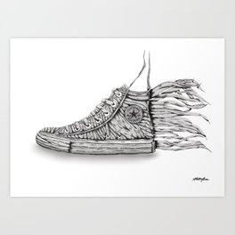 Lace 'Em Up Art Print