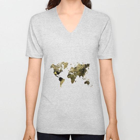 Gold world map by ummuhanuslu