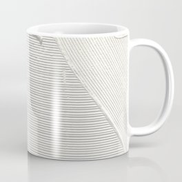 Relief [2]: an abstract, textured piece in white by Alyssa Hamilton Art Coffee Mug