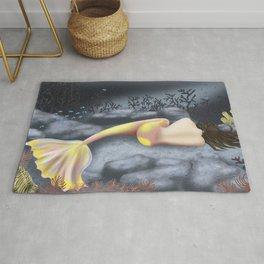 Sleeping Mermaid Rug