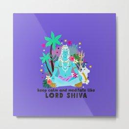 Lord Shiva meditates Metal Print