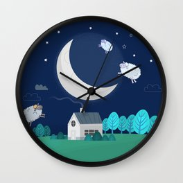 What The Sheep Do While You Sleep Wall Clock