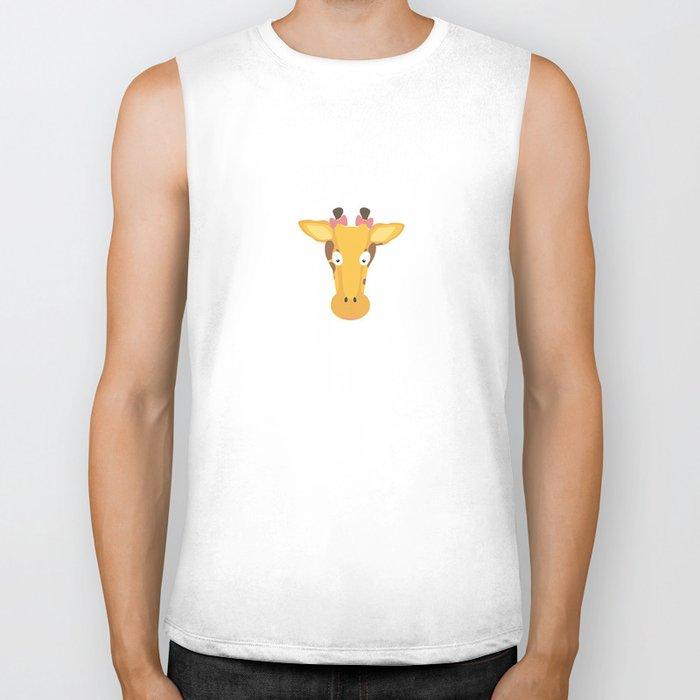 Female giraffe head Biker Tank
