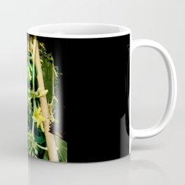 Layered Reality Green Woman Coffee Mug