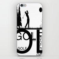 golf iPhone & iPod Skins featuring Golf, golf, golf! b&w by South43