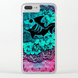 Unicorn Shark Blue Clear iPhone Case