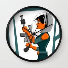 Spacewoman Wall Clock
