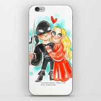 princess bride iPhone & iPod Skins featuring Princess Bride Hug by Super Group Hugs
