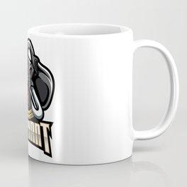Elephant Head Mascot Logo Design Coffee Mug