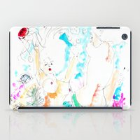 mermaids iPad Cases featuring Mermaids  by Julie Lehite