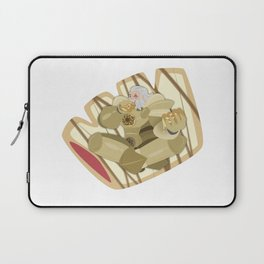 Donuts - Glazed Bear Claw with Raspberry Filling Laptop Sleeve