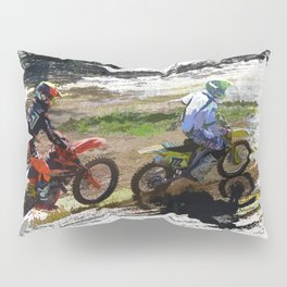 On His Tail - Motocross Sports Art Pillow Sham