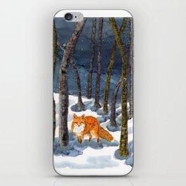 Winter Fox - Alcohol Ink iPhone Skin