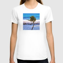 Lone Palm Tree In Paradise T-shirt