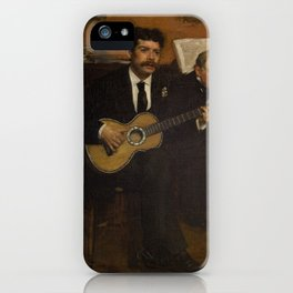 Lorenzo Pagans and Auguste de Gas by Edgar Degas iPhone Case