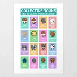 Collective Nouns 02 Art Print