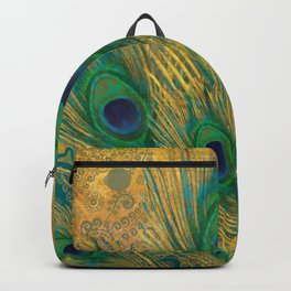 """""""Turquoise and golden peacock"""" Backpack"""
