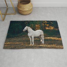 horse by Helena Lopes Rug