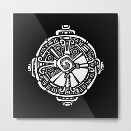 Hunab Ku.  Mayan symbol. Hand Drawn detailed pattern. Metal Print