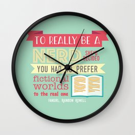 To really be a nerd Wall Clock