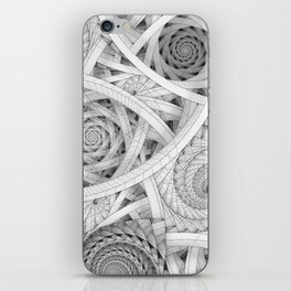 GET LOST - Black and White Spiral iPhone Skin
