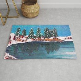 Lake Tree Landscape, Cedar Lake Rug