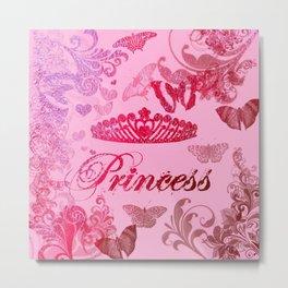 Flutterby Princess Metal Print